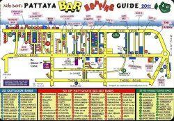 Карты отелей, кафе и баров Паттайи, Таиланд