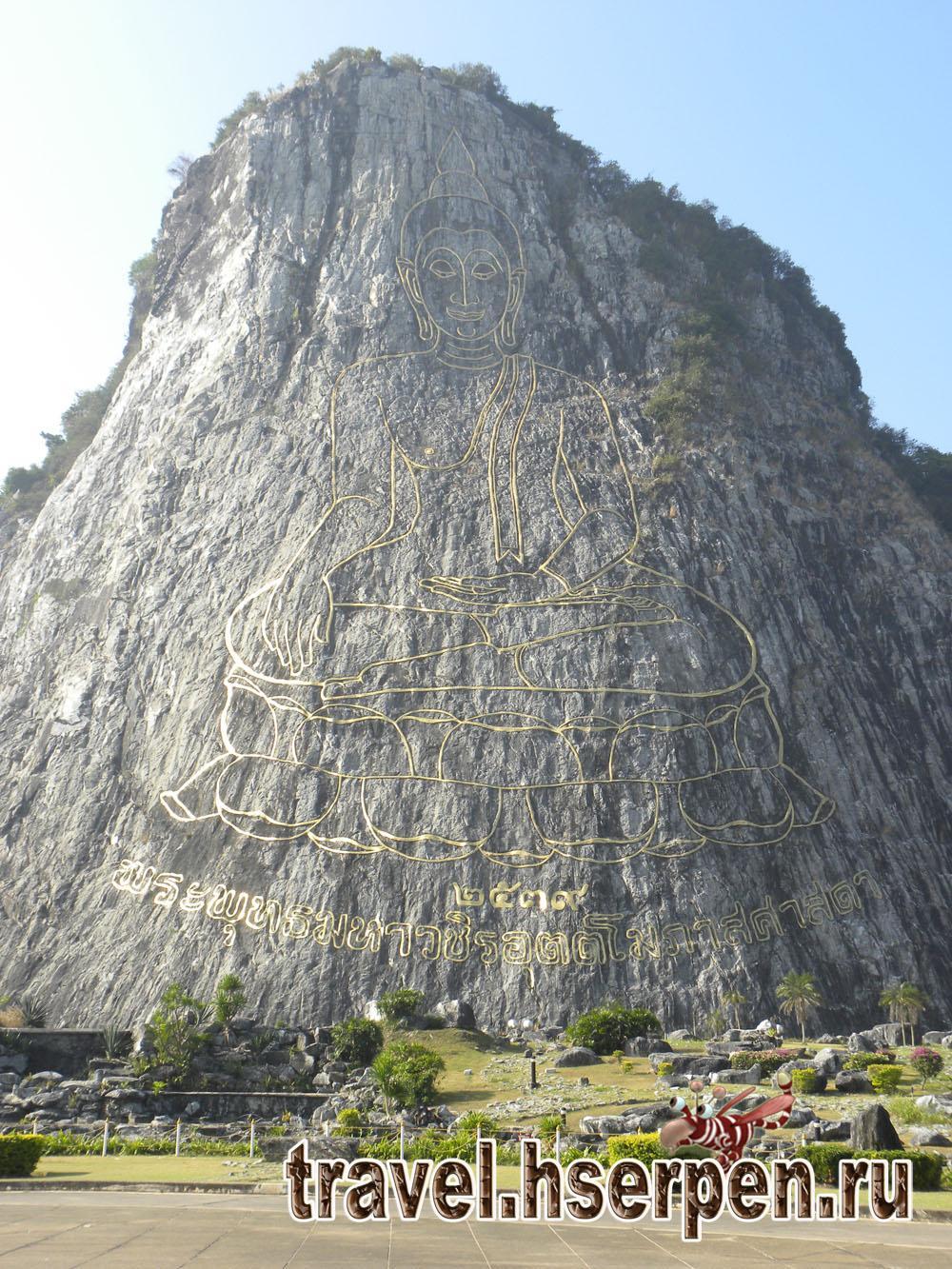 Фото дня: Изображение Будды на горе Кхао Чи Чан (Khao Chi Chan), Паттайя, Таиланд
