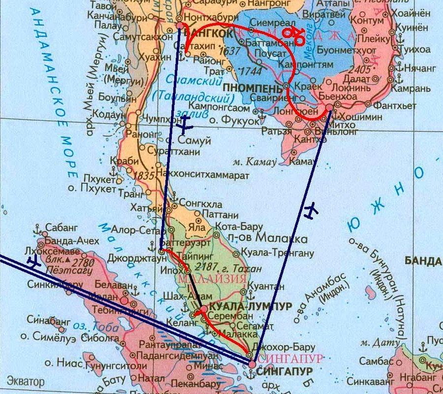 Путешествия «дикарем»: выбор маршрута