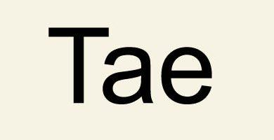 Photo of Первый слог Tae / 태 / Тхэ