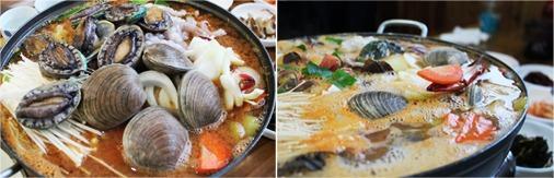Комплексный обед из морепродуктов