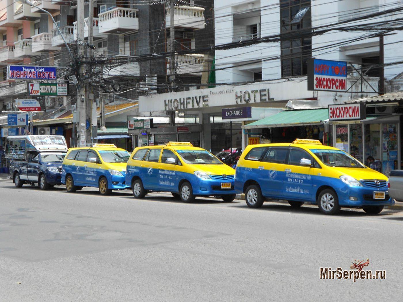 Обзор транспорта в Паттайе: такси