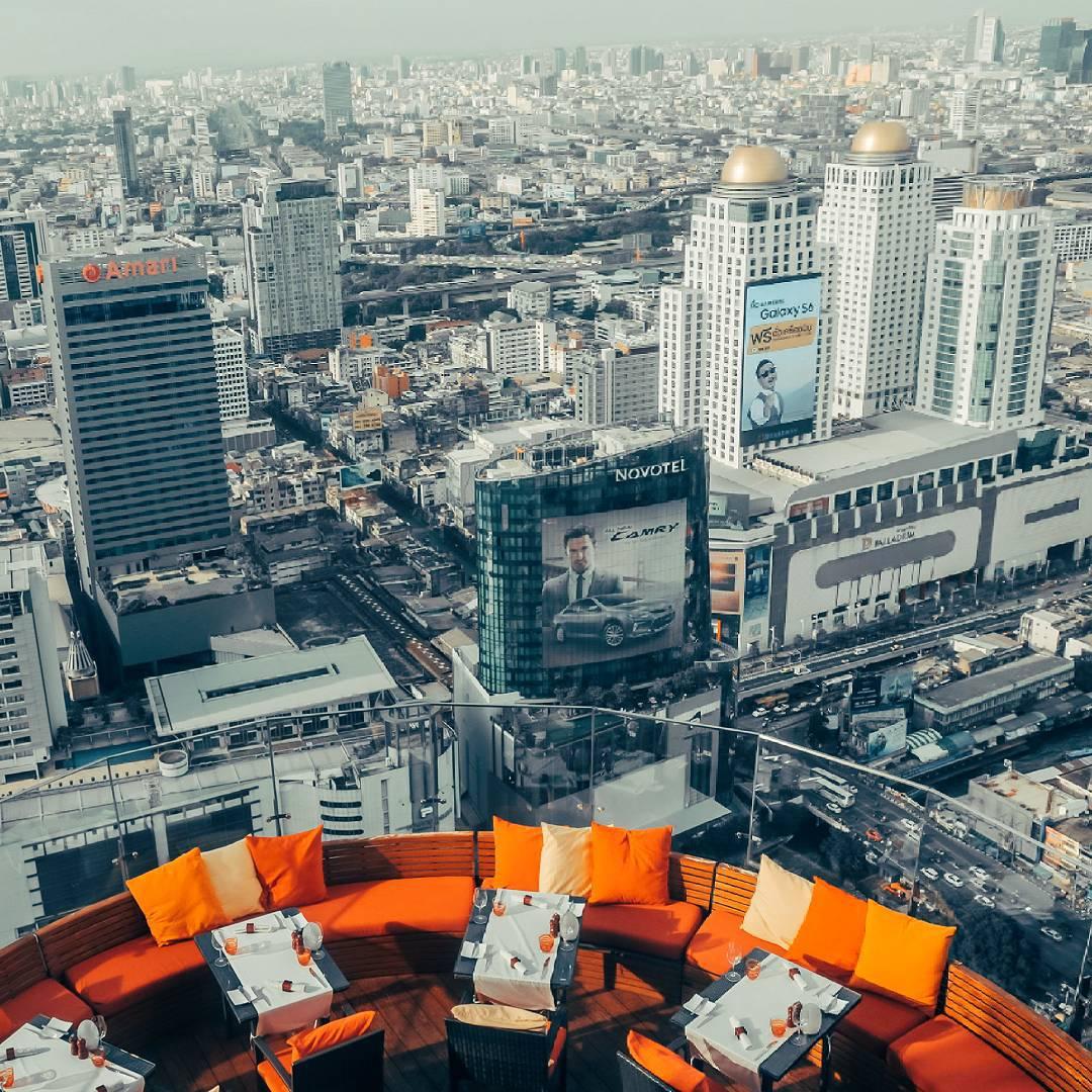 Вид на Бангкок с крыши отеля Centara Grand