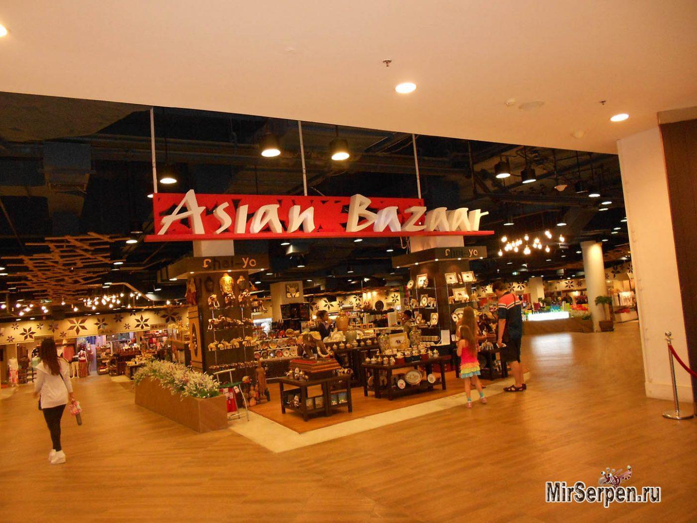 Рынок сувениров Asian Bazaar в торговом комплексе Central Festival, Паттайя