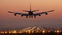 Съемка посадки самолета