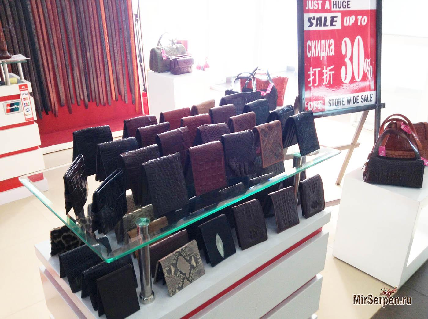 Стоит ли покупать в Нячанге вещи из кожи крокодила?