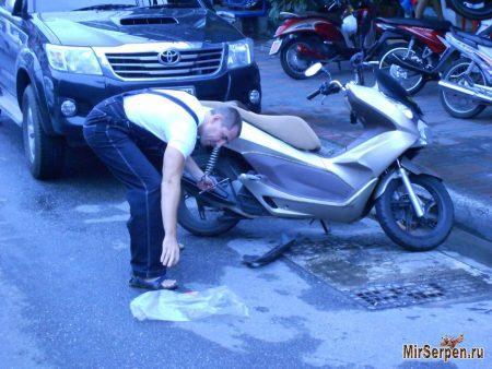 Мошенничество с мотобайками в Таиланде