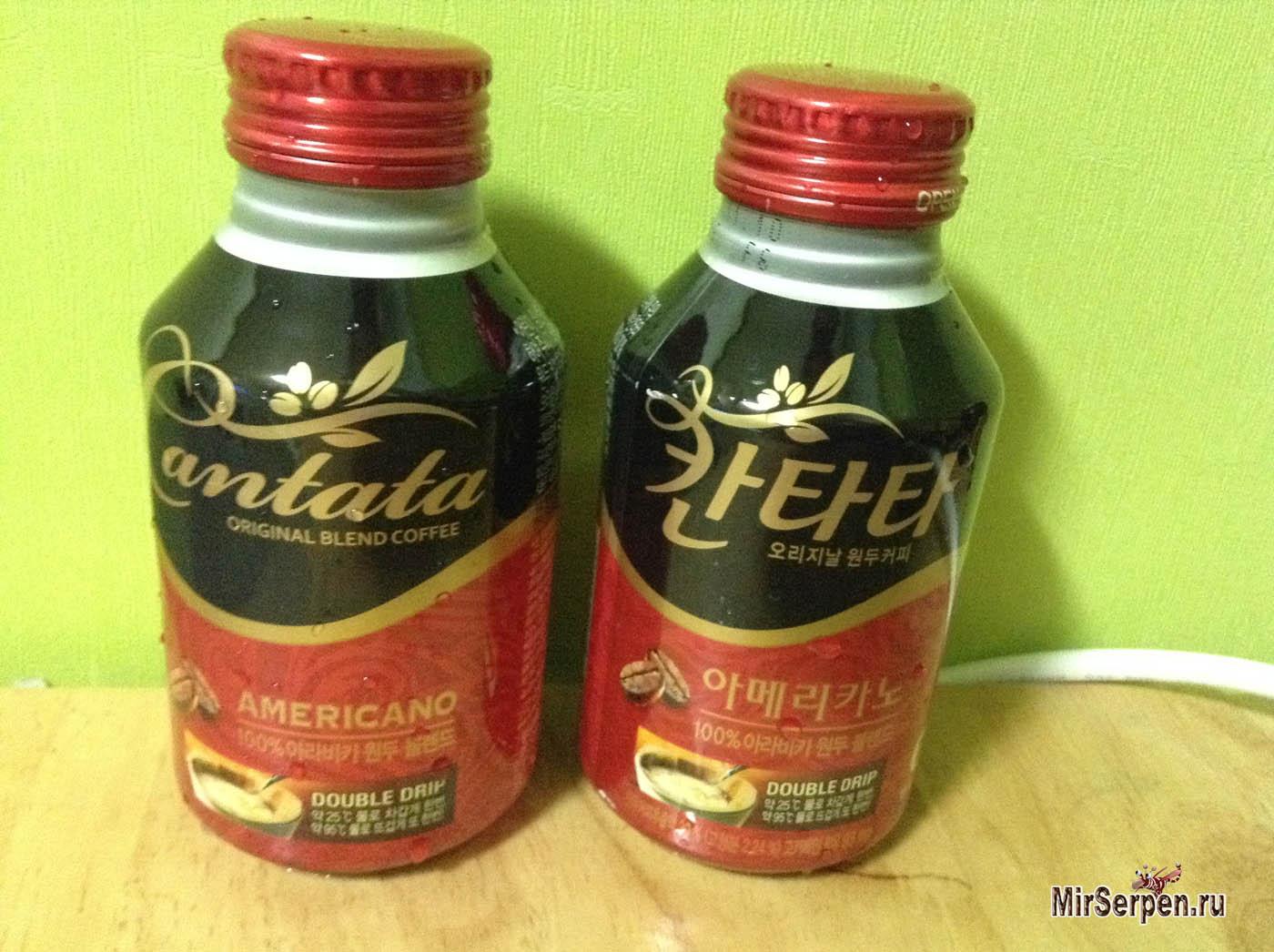 Корейский кофе в бутылочках