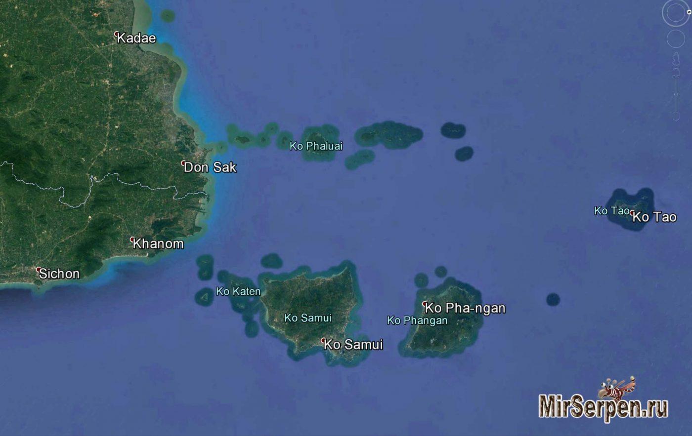 Photo of Карта острова Самуй и ближайших островов