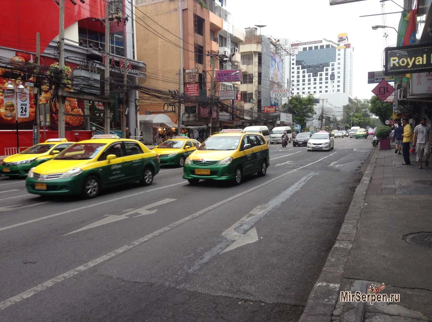 Таксисты Бангкока на карте местности