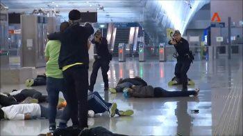 Контртеррористические учения в аэропорту Чанги, Сингапур