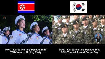 Сравнение военных парадов в Северной и Южной Кореях